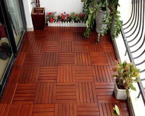 sàn vỉ gỗ căm xe tự nhiên