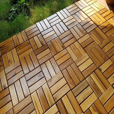 Sàn vỉ gỗ tràm bông vàng tự nhiên