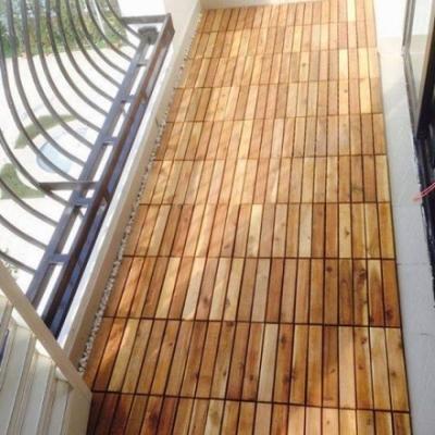 Sàn vỉ gỗ sồi tự nhiên