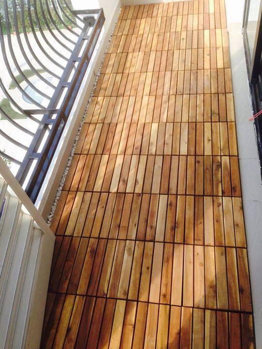 Sàn gỗ vỉ ngoài trời giá rẻ