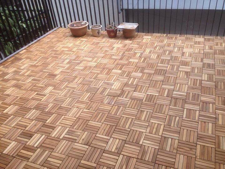 Sàn gỗ nhựa vỉ ngoài trời