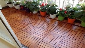 Sàn gỗ ban công căm xe tự nhiên