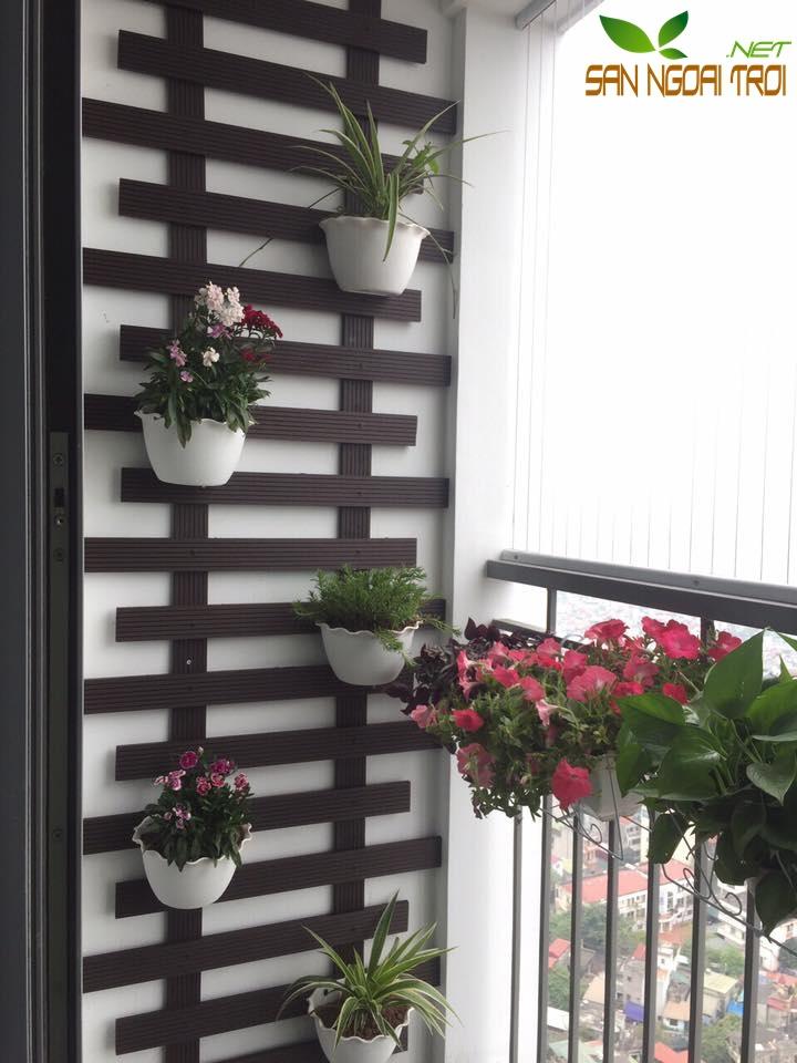 Giàn hoa ban công gỗ nhựa composite10
