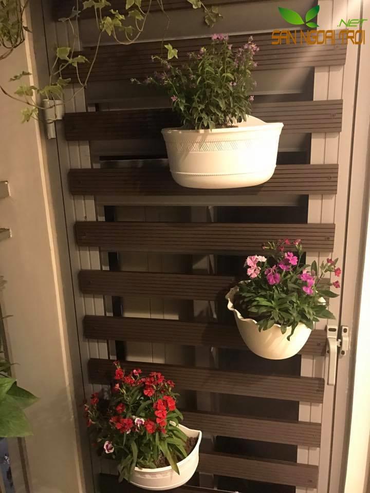 Giàn hoa ban công gỗ nhựa composite8
