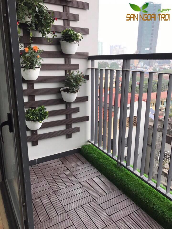 Giàn hoa ban công gỗ nhựa composite9