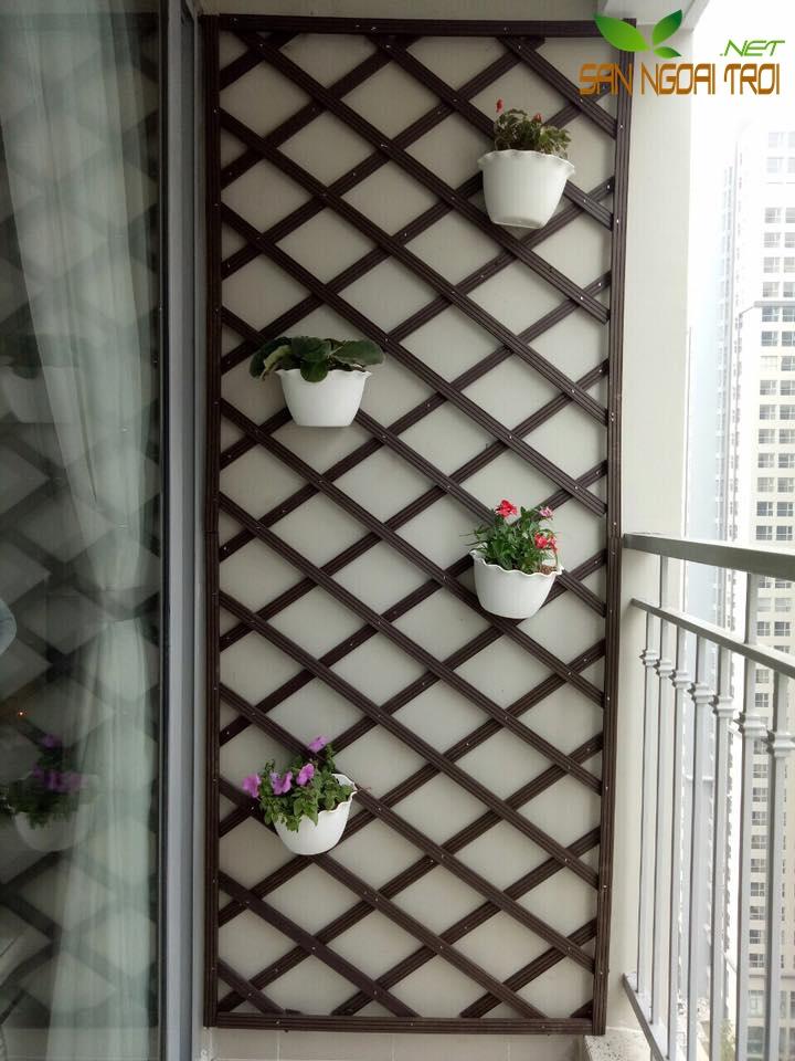 giàn hoa ban công đan chéo2